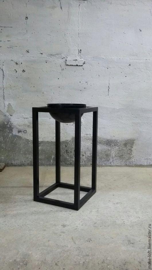 Мебель ручной работы. Ярмарка Мастеров - ручная работа. Купить Подставка малая под цветы в стиле лофт. Handmade. сталь