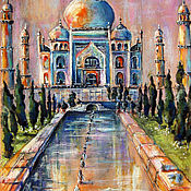 Картины и панно handmade. Livemaster - original item Painting painting pastel DREAMS about INDIA. Handmade.