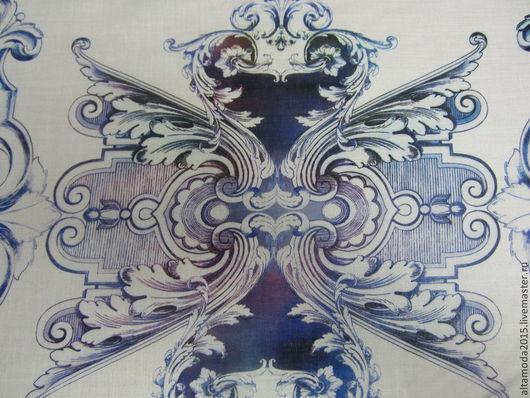 Шитье ручной работы. Ярмарка Мастеров - ручная работа. Купить Батист Хлопок   ткань Италия. Handmade. Синий, италия