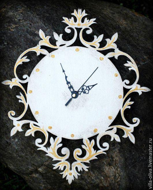 Часы для дома ручной работы. Ярмарка Мастеров - ручная работа. Купить Часы настенные Кружевные. Handmade. Бежевый