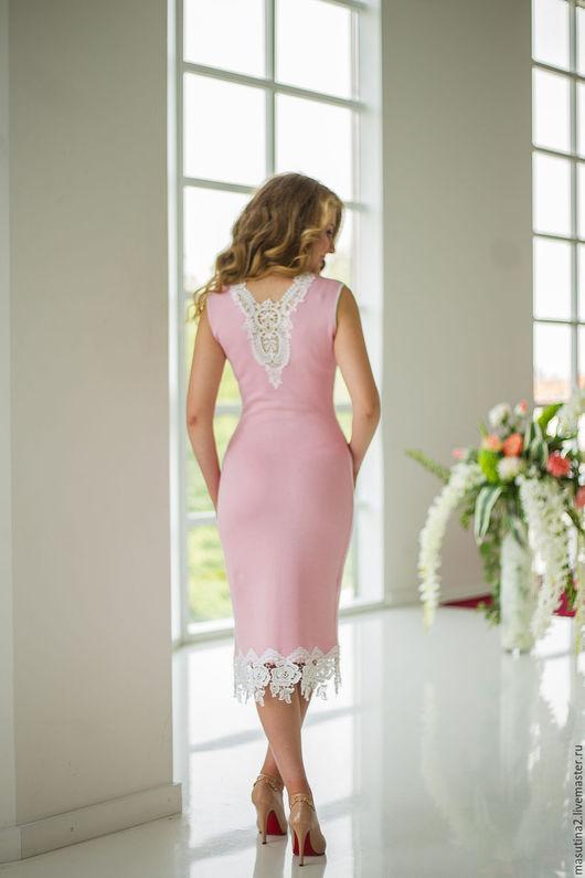 """Платья ручной работы. Ярмарка Мастеров - ручная работа. Купить Платье """"Малена"""". Handmade. Бледно-розовый, нарядное платье"""