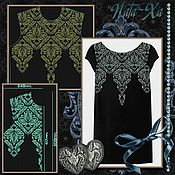 Материалы для творчества handmade. Livemaster - original item damascus. dress. set. design for machine embroidery. Handmade.