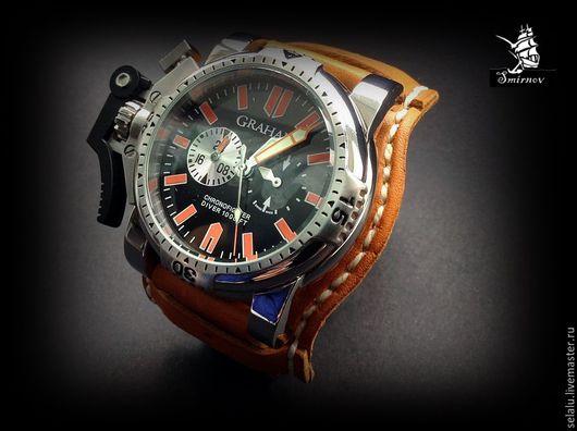 Часы ручной работы. Ярмарка Мастеров - ручная работа. Купить Ремень- браслет для часов ручной авторской работы.. Handmade. Рыжий