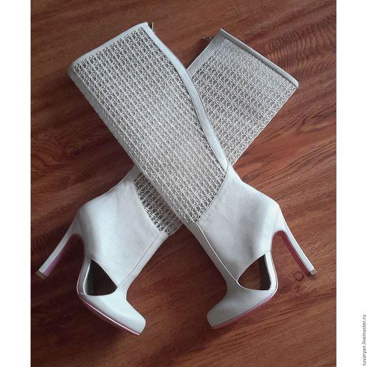 Обувь ручной работы. Ярмарка Мастеров - ручная работа. Купить Сапоги ручной работы ''Айвори 2''. Handmade. Сапоги женские