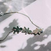 Украшения handmade. Livemaster - original item Bracelet my children, for mothers with children figurines made of silver 925 with cubic Zirconia. Handmade.