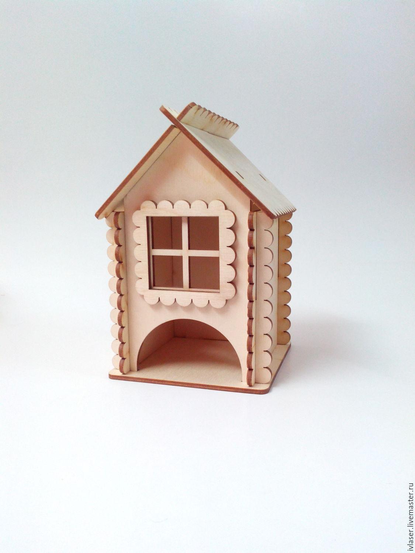 IVL-138-3-160 Чайные домики 16 х 8 х 8 см, заготовки для декупажа и росписи.