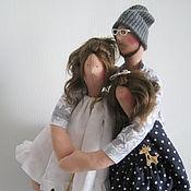 """Куклы и игрушки ручной работы. Ярмарка Мастеров - ручная работа Тильда семья """"Сохраняя тепло"""". Handmade."""