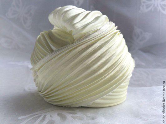 Для украшений ручной работы. Ярмарка Мастеров - ручная работа. Купить №188 Айвори whait - ленты шибори. Handmade.