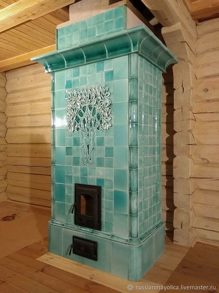 Mint oven with a snow-covered tree, Fireplaces, Moscow,  Фото №1