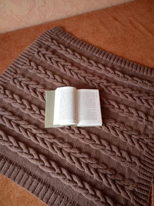Текстиль, ковры ручной работы. Ярмарка Мастеров - ручная работа. Купить Плед. Handmade. Коричневый, плед детский, Вязание крючком