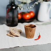 Посуда handmade. Livemaster - original item Glass wooden Textured Siberian Elm #R11. Handmade.