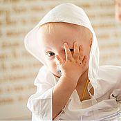 Работы для детей, ручной работы. Ярмарка Мастеров - ручная работа Крестильная рубашка, рубашка с капюшоном. Handmade.
