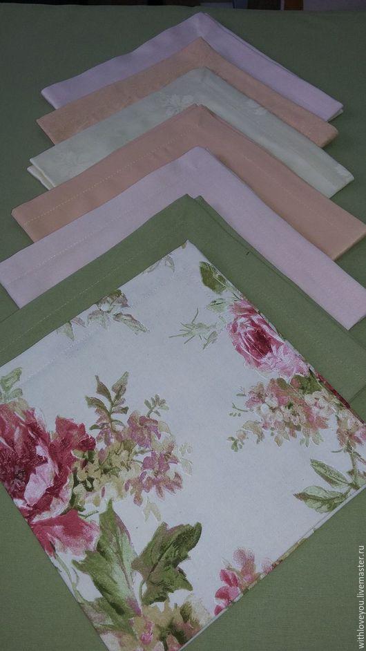 Текстиль, ковры ручной работы. Ярмарка Мастеров - ручная работа. Купить Салфетки. Handmade. Комбинированный, сервировочные салфетки, сервировка