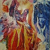 Картины и панно ручной работы. Ярмарка Мастеров - ручная работа Картина маслом Карнавал.. Handmade.