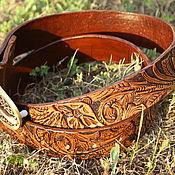 Straps handmade. Livemaster - original item Men`s leather belt