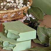 Косметика ручной работы. Ярмарка Мастеров - ручная работа Алеппское мыло с нуля классическое (20% масла лавра) лавровое мыло. Handmade.