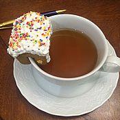 Сувениры и подарки ручной работы. Ярмарка Мастеров - ручная работа пряничный домик на чашку (мини-домик). Handmade.