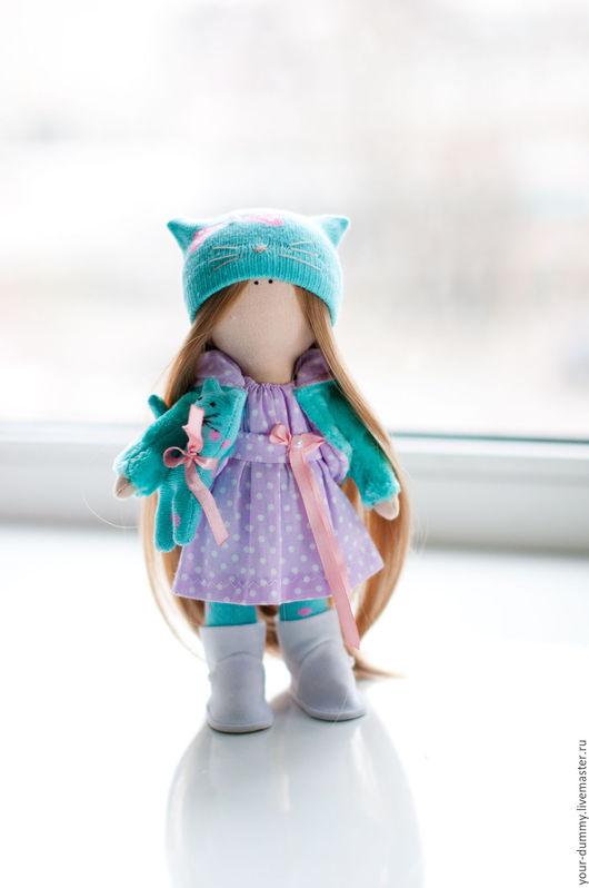 Коллекционные куклы ручной работы. Ярмарка Мастеров - ручная работа. Купить Кукла Кошечка. Handmade. Бирюзовый, подарок, рукоделие, Праздник