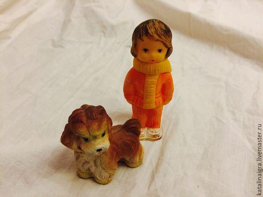 Винтажные куклы и игрушки. Ярмарка Мастеров - ручная работа. Купить Стааааааааарые резиновые игрушки 50 е годы коллекционные. Handmade.