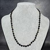 Работы для детей, handmade. Livemaster - original item Beads natural golden obsidian. Handmade.