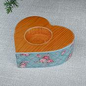 Свадебный салон handmade. Livemaster - original item The plate rings heart wood. Handmade.