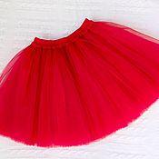 Детская юбка-пачка из фатина на 5-7 лет