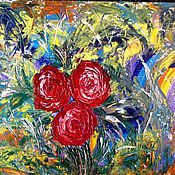 Картины и панно handmade. Livemaster - original item Floral fantasy 2.oil. Handmade.