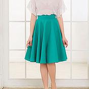 Одежда ручной работы. Ярмарка Мастеров - ручная работа Бирюзовая юбка-солнце, юбка на лето. Handmade.