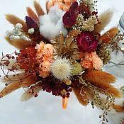 Композиции ручной работы. Ярмарка Мастеров - ручная работа Композиция из сухоцветов и стабилизированых цветов. Handmade.