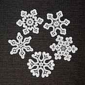 Подарки к праздникам handmade. Livemaster - original item Snowflakes. A set of Christmas ornaments. Handmade.