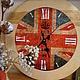 Часы для дома ручной работы. Ярмарка Мастеров - ручная работа. Купить Лондон. Handmade. Разноцветный, английский стиль, классика, подарок