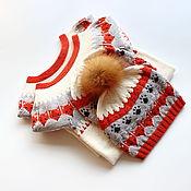 Работы для детей, ручной работы. Ярмарка Мастеров - ручная работа Платье с лисичками. Handmade.