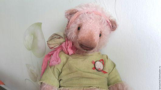 Мишки Тедди ручной работы. Ярмарка Мастеров - ручная работа. Купить Носатая Розулечка. Handmade. Бледно-розовый, теддик