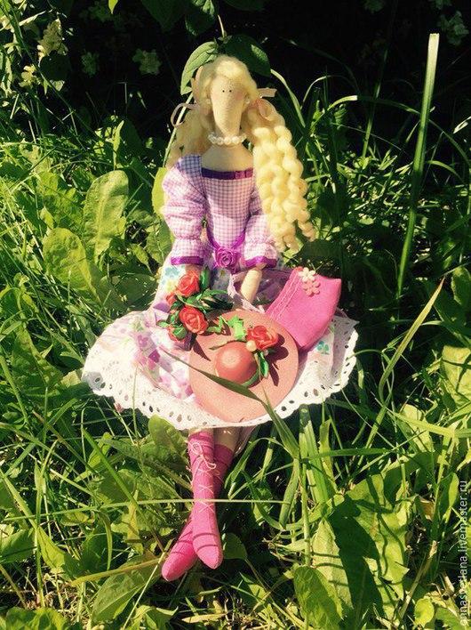 Куклы Тильды ручной работы. Ярмарка Мастеров - ручная работа. Купить Куколка Мирабелла по мотивам Тильда. Handmade. Розовый, хлопок
