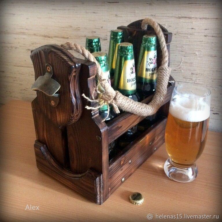 Короб для пива Брутальный на 6 бутылок массив дерева, Короб, Орел,  Фото №1