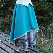 Одежда ручной работы. Ярмарка Мастеров - ручная работа №166.2 Льняная двойная юбка бохо. Handmade.