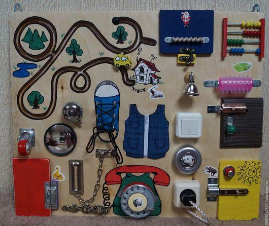 Развивающие игрушки ручной работы. Ярмарка Мастеров - ручная работа. Купить РАЗВИВАЮЩАЯ ДОСКА. Handmade. Разноцветный, развивающая игрушка