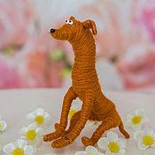 Куклы и игрушки ручной работы. Ярмарка Мастеров - ручная работа игрушка Левретка рыжая (собака, щенок,пес,новогодняя). Handmade.