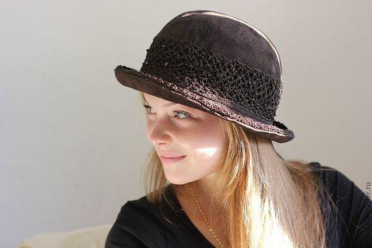 """Шляпы ручной работы. Ярмарка Мастеров - ручная работа. Купить """"Шапо"""" Замшевая шляпка. Handmade. Авторская ручная работа"""