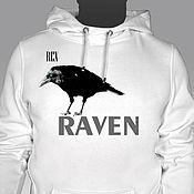 Одежда handmade. Livemaster - original item Jumpers: Hooded crow sweatshirt. Handmade.