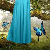 """Одежда ручной работы. Ярмарка Мастеров - ручная работа Бирюзовая юбка на зиму """"Аквамарин"""". Handmade."""
