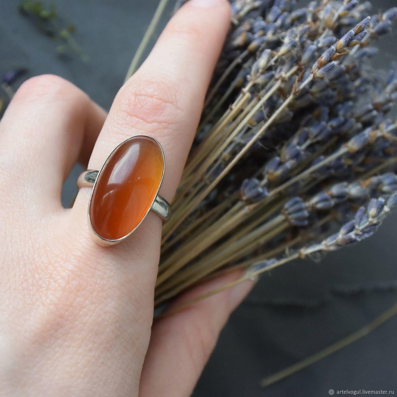 Ring with carnelian, Rings, Nizhnij Tagil,  Фото №1