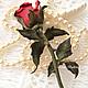 """Броши ручной работы. Заказать Роза из натуральной кожи """" The magic of love"""". Designer flowers by Elena Badreeva (e-belenka). Ярмарка Мастеров."""