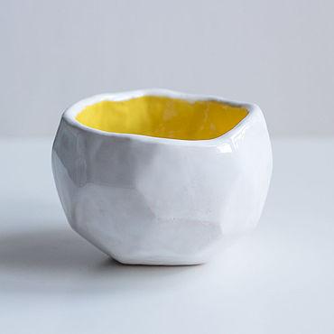 Посуда ручной работы. Ярмарка Мастеров - ручная работа Пиала керамическая граненая. Handmade.