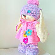 Куклы и игрушки ручной работы. Ярмарка Мастеров - ручная работа Зайка-лапочка. Вязаный зайчик. заяц. Handmade.