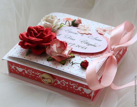 """Конверты для денег ручной работы. Ярмарка Мастеров - ручная работа. Купить Коробочка для денег """"Scarlet rose"""". Handmade. Ярко-красный"""