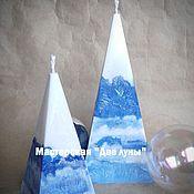 """Подарки к праздникам ручной работы. Ярмарка Мастеров - ручная работа """"Арктика"""" зимние эко-свечи. Handmade."""