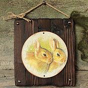 """Для дома и интерьера ручной работы. Ярмарка Мастеров - ручная работа Скидка! Пано """"Кролики"""". Handmade."""