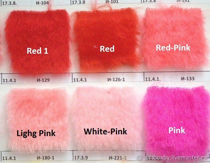 Мех искусственный разных цветов 50х50 см для изготовления игрушек, Ткани, Жлобин,  Фото №1