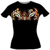 Одежда ручной работы. Ярмарка Мастеров - ручная работа футболка Взгляд тигра. Handmade.